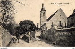 MONTCEAUX   L'Eglise   2 Scans - Autres Communes