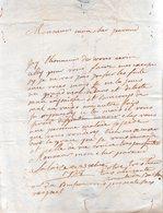 MADAME DU BUISSON.Lettre Manuscrite Signée.Envoyée à Monsieur Du Motté,conseiller Du Roi à Falaise.1738. - Handtekening