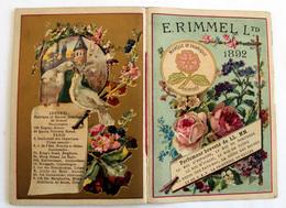 Almanach RIMMEL 1892 Complet Sur 8 Pages Angleterre;Suisse,Hollande,Russie,Espagne,France - Altri
