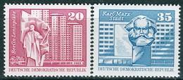 DDR - Mi 1820 / 1821 - ** Postfrisch (A) - 20-35Pf       Aufbau In Der DDR - [6] République Démocratique