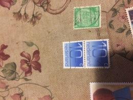OLANDA ORDINARIO AZZURRO BLOCCO 2 VALORI - Briefmarken