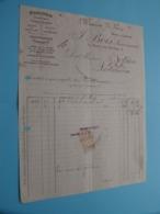 Maison De Gros F. BOIS Successeur ( Grenoble ) Bois & Cartan ( Fact. ) Anno 1915 ( Zie/voir Photo) ! - Andere