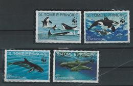 S.TOME + PRINCIPE - 1991 - WWF -  WHALES - SET- MNH - São Tomé Und Príncipe