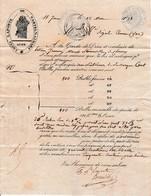 1838 -CANAL DU MIDI St JEAN - Connaissement De Louis LAPORTE De CASTELNAUDARY - Documents Historiques