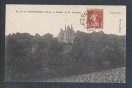 Ambulant Convoyeur Ligne Reims à Epernay 1909 Type Mixte 138 Semeuse CP Rilly La Montagne Marne Châtau Pommery - Railway Post