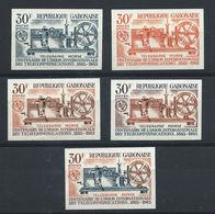 Gabon N°179** (MNH) 1965 Essais Couleurs - Télégraphe Morse - Gabon (1960-...)