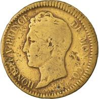 Monnaie, Monaco, Honore V, Decime, 1838, Monaco, Cuivre Jaune, TB, Cuivre - 1819-1922 Honoré V, Charles III, Albert I