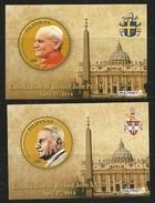 Filippine, 2014, 2 Foglietti Canonizzazione Dei Papi Giovanni XXIII E Giovanni Paolo II. Philippine. - Filipinas