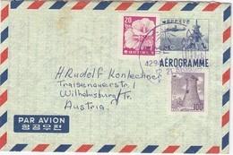SÜDKOREA 1961 - Aerogramm Mit MiNr: 247+252 - Korea (Süd-)
