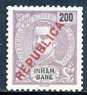 """!■■■■■ds■■ Inhambane 1917 AF#098(*) Local """"Republica"""" 200 Réis (x0932) - Inhambane"""