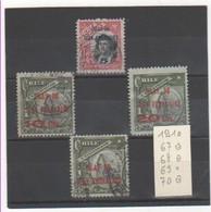 CHILI 1910 YT N° 67 à 70 Oblitérés (69 N*) - Chile