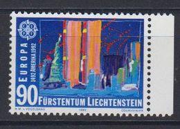 Europa Cept 1992 Liechtenstein 90Rp Value / Neues Amerika  1v ** Mnh (47748F) - Europa-CEPT