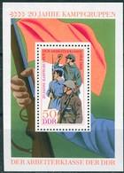 DDR - Mi Block 39 = 1876 - ** Postfrisch - 50Pf    20 Jahre Kampfgruppen - [6] République Démocratique