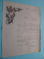 Le COMTE De CARMOY > La CHAPELLE De BRAGNY ( Bon De Commande > E. Bourgeois Paris ) Anno 1901/02 ( 14 Exemplaires ) ! - Chalon Sur Saone