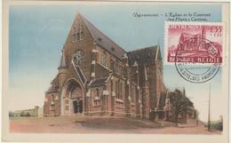 Carte Maximum BELGIQUE  N°Yvert 778 (Eglise De Chèvremont) Obl Sp Vaux Sous Chèvremont  24.5.48 (Ed Legia Type1) - Maximumkarten (MC)