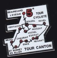 65171-Pin's.Cyclisme.Ravel.bouzel.Chas.Chauriat.Mezel.Moissat.vertaizon. - Cycling