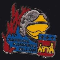65197-Pin's-Sapeurs Pompiers Billom.Auvergne.signé Beraudy Vaure - Brandweerman