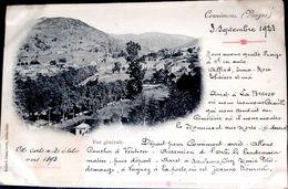 88 CORNIMONT VUE GENERALE CARTE 1900 REDIGEE EN 1923 OBSERVATIONS SUR LE PAYS - Cornimont