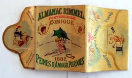 """Almanach RIMMEL 1887 Complet De Ses 8 Volets """"Peines D'amour Perdues"""" Amorce De Déchirure - Altri"""