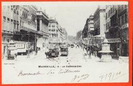 Nw115 MARSEILLE-CANNEBIERE (13) La CANNEBIERE Tramway Hippomobile 1903 à BOUTET Sage-Femme Port-Vendres - LACOUR 8 - Canebière, Centro Città