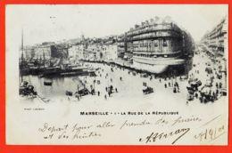 Nw116 MARSEILLE 1er (13) LA SAMARITAINE Rue De La REPUBLIQUE 1901 à BOUTET Sage-Femme Port-Vendres- LACOUR 1 - Canebière, Centro Città