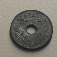 1941 - France - 20 CENTIMES, Etat Français, Type VINGT, Zinc, KM 899, Gad 320 - France
