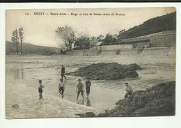 29 . BREST / SAINT ANNE  PLAGE ET BOIS DE SAINTE ANNE DU PORZIC /  Enfants Sur La Plage - Brest