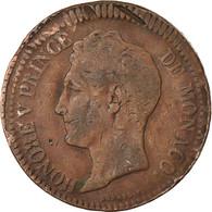 Monnaie, Monaco, Honore V, Decime, 1838, Monaco, TB, Cuivre, Gadoury:105 - Monaco