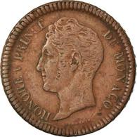 Monnaie, Monaco, Honore V, Decime, 1838, Monaco, TB+, Cuivre, Gadoury:105 - Monaco