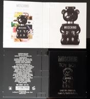 Moschino Toy Parfum Sample Carte - Perfume Cards
