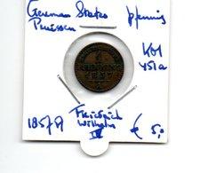 GERMAN STATES PRUISSEN PFENNIG 1857A FRIEDRICH WILHELM IV - [ 1] …-1871: Altdeutschland
