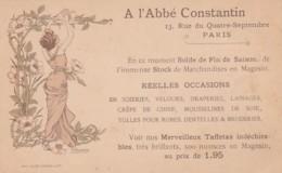 281071A. L'Abbé Constantin 13. Rue Du Quatre Septembre Paris ( (signé Chamouin)(voir Coins) - Publicidad