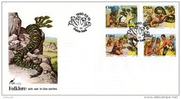 Ciskei - 1990 Folklore Five-headed Snake FDC # SG 161-164 , Mi 166-169 - Ciskei