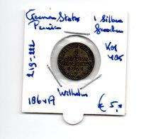 GERMAN STATES PRUISSEN SILBERGROSCHEN  1864A  ZILVER WILHELM I - Groschen & Andere Kleinmünzen