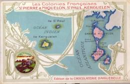SAINT PIERRE ET MIQUELON , T.P. PUBLICITARIA , EDITION DE LA CHOCOLATERIE D' AIGUEBELLE - Saint-Pierre-et-Miquelon