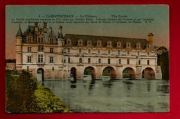 CPA Colorisée 37 Château De Chenonceaux - Ed A.P. Papeghin N° 4 - écrite 28-04-1924 à La Berrurie - - Chenonceaux