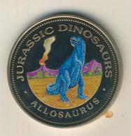 Republica De Guinea Ecuatorial,1000 Francos,1994,Silber,22gr., Kapsel, -- Jurassic Dinosaurs Allosaurus  (54008) - Guinea
