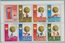 JO76-E/L5 - COREE DU NORD Feuillet Obl. Médailles Aux Jeux Olympiques De Montréal 1976 - Corée Du Nord
