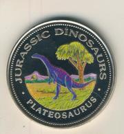 Republica De Guinea Ecuatorial,1000 Francos,1993,Silber,22gr., Kapsel, -- Jurassic Dinosaurs Plateosaurus  (54009) - Guinea