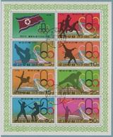 JO76-E/L6 - COREE DU NORD Feuillet Obl. Jeux Olympiques De Montréal 1976 - Corée Du Nord
