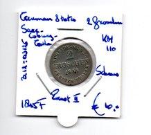 GERMAN STATES SAXE COBURG GOTHA 2 GROSCHEN 1855F ZILVER ERNST II SCHAARS - [ 1] …-1871: Altdeutschland