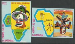 Equatorial Guinea 1977 Year , Mint 2 Blocks Mask - Guinea Equatoriale