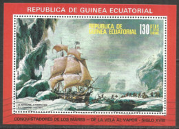 Equatorial Guinea 1972 Year , Used Block  Ships - Guinea Equatoriale