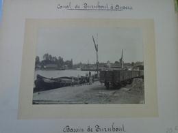 SUPERBE ET RARE PHOTO Sur Carton D'origine - Canal De TURNHOUT à ANVERS - Bassin De TURNHOUT - Voir Descriptif - Lieux