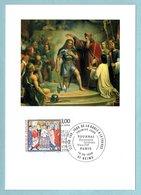 Carte Maximum 1996 - De La Gaule à La France - Le Baptème De Clovis - YT 3078 - 51 Reims - Cartoline Maximum
