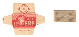 Lame De Rasoir Française LE CERF - French Safety Razor Blade Wrapper - Razor Blades