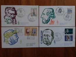 REPUBBLICA - 4 F.D.C. Venetia Uomini Illustri - Viaggiate + Spese Postali - 1946-.. Republiek