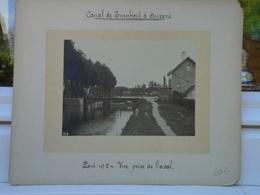 SUPERBE ET RARE PHOTO Sur Carton D'origine - Canal De TURNHOUT à ANVERS - Pont N°2 Vue Prise En Aval - Voir Descriptif - Lieux