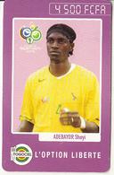 TOGO - FIFA World Cup 2006/Adebayor Sheyi, Hello Thailand, Togocel Prepaid Card 4500 FCFA, Used - Togo