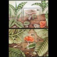 ANTIGUA 1989 - Scott# 1231-2 S/S(2) Mushrooms MNH - Antigua Und Barbuda (1981-...)